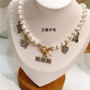 Fashion Vintage Bronze Retro Full Diamond Love Star Bee Pendant Necklace ClavicleChain Wild for Women&Girls Wedding Valentine's Day Jewelry Gift