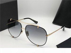 Classic Talons Pilot Sunglasses Black Gold Dark Grey Gradient Luxury Designer Sunglasses glasses New with box