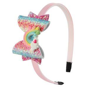 Baby Rainbow Unicorn Headband Sequin Fruit Bowknot Hair Sticks Cartoon Children Girls Shining Bow Headband Kids Hair Accessories one 747 S2