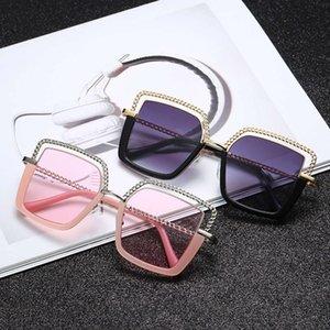 Luxury Square Sunglasses Women 2021 Fashion Metal Half Frame Sun Glasses Brand Design Female Shades Trending Eyeglasses UV400