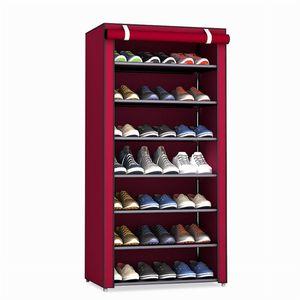 3 4 5 6 8 Layers Dustproof Assemble Shoes Rack DIY Home Furniture Non-woven Storage Shoe Shelf Hallway Cabinet Organizer Holder 501 R2