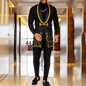Этническая одежда мода 2021 человек африка костюма жилет африканская одежда хип-хоп рукавов пиджаки повседневное платье халат африканский