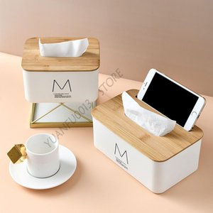 Tissue Boxes & Napkins Box With Cover Household Paper Towel Storage Toilet Office Organizer Table Case