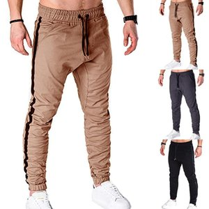 Erkekler Pantolon 2021 Çapraz Sınırlı Ticaret Klasik Patchwork Erkekler Gevşek Kemer Tether Rahat Moda Kargo S-2XL