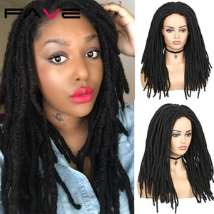 Long Dreadlock Synthetic Wig Black Color Natural Looking Braiding Crochet Twist Wigs for American African Men Womenfactory direct