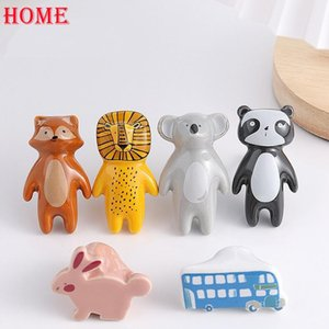 Handles & Pulls Ceramic Furniture Cartoon Door Handle Kitchen Cabinet Drawer Knobs Hardware Kids Room Home Decor