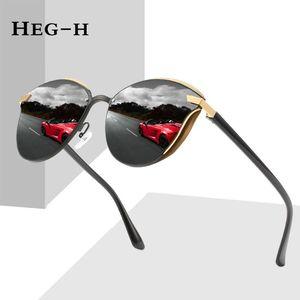 HEG-H 2021 Design Cat Eye Polarized Sunglasses Men Women Elegant Sun Glasses Female Driving Eyewear