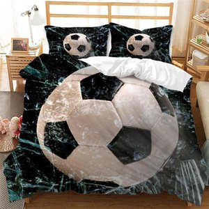 Bedding Sets Football Duvet Cover 3D Printed Luxury Child Kids Covers Bed Linen(NO Sheet) AYR