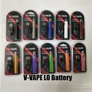 V-VAPE LO Reheate VV аккумулятор батареи VV 650MAH переменная аккумулятор напряжения с зарядным устройством USB для 510 резьбовый масляный картридж танк DHL