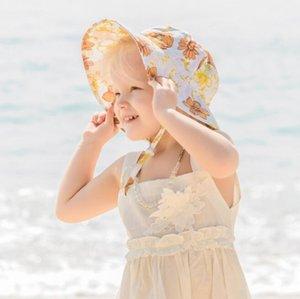 Baby Girls Pescador Sombreros Primavera Verano Infantil Niños Versátiles Caps Lindas Flores Impresión Fashion Hat IIA961