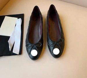 100% Leather 2021 Designers Deluxe Women's Dress ballet Shoes Flat bottom , Casual, Soft Soles, Low Heel, Light Print