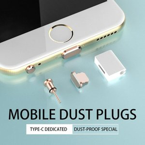 Type C Phone Dust Plug Set USB Type-C Port And 3.5mm Earphone Jack For Galaxy S8 S9 Plus Huawei P10 P20 Lite Cell Anti-Dust Gadgets