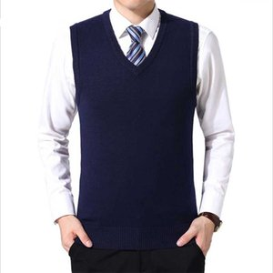 Men's Vests 2021 Autumn Winter Mens Casual Slim Fit Sleeveless Knitted Vest Sweater Casaco Masculino Jacket Gilet Chaleco V Neck Blusas