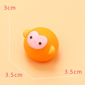 20pcs Rubber Animals Baby Girl Boy Swimming Bath Toys Soft Float Squeeze Squeaky Sound Wash Water Beach Play Fun Gift Toddler L0323