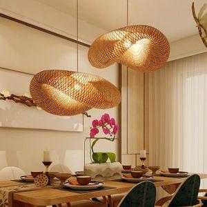 Pendant Lamps Modern Bamboo LED Lights Living Room Lamp Lighting For Bedroom Diningroom El Restaurant Kitchen Home Hanging