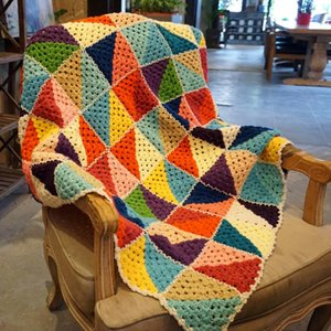 Одеяла ручной работы радуги вязание крючком одеяло ручной крючок красочный диван подушка чувствовал пастырский стиль погазливый подарок