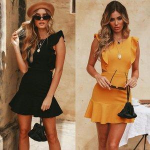 Casual Dresses 2021 Design Styele Clothing Sweatwear Sweet Sexy Fashion Soft Good Fabric Women MLT122