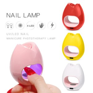 Wholesale 16W Mini Nail Dryers Pink White 45S Machine UV LED Light Portable Micro USB Cable Home Use Drying Lamp For Gel Varnish