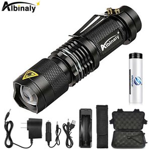 Super brigh LED Flashlight Zoom L2 Led lamp bead Torch 5 mode camping waterproof Use 18650 Rechargeable battery 210608
