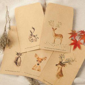 Envoltório de presente 80 pcs Retro Envelope Criativo Diy Envelopes Kraft para Festival de Partido