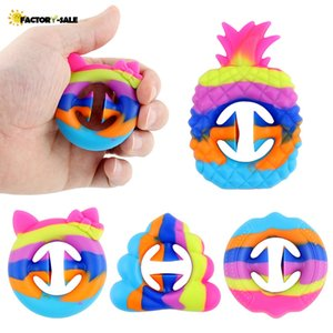 Us tock Newest Stress Reliever Toy Grab Snap Hand Toy Silicone Grip Ring Decompression Toys Exercise Arm Muscles Anti-Stress Toy For Kids FY19