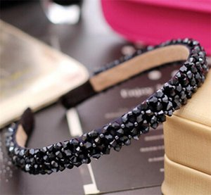 Nueva banda de vidrio de cristal multicolor de la moda de la banda de pelo a mano para las mujeres para las niñas accesorios para el cabello joyería de la cabello 168 T2