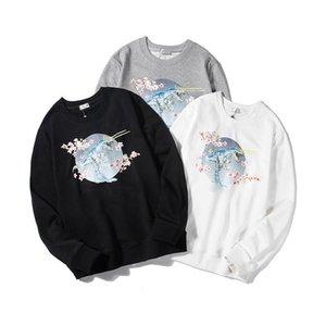 2021 men's and women's crewneck hoodie cotton black white pullover Sweatshirts free ship