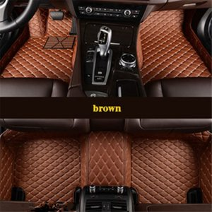leather car floor mats for smart all models fortwo forfour forjeremy car-styling Custom auto carpet cover