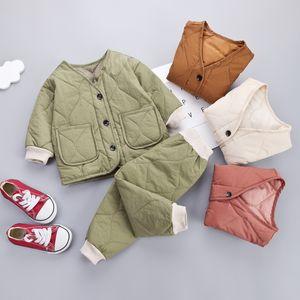 2010 طفل الفتيات / الفتيان سميكة سترة دافئة مجموعة طفل الملابس مجموعة ملابس الأطفال مجموعات الاطفال الخريف الشتاء ستر itfits مجموعة LJ200831 172 Z2