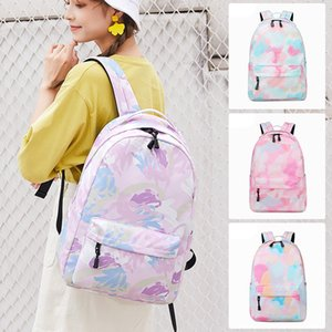 Cross-Border New Arrival Graffiti Printing Backpack Female Middle School Student Schoolbag Artistic Lightweight Waterproof Leisure Simple Ba