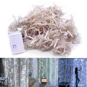 Newest Design 300-LED White Light Romantic Christmas Wedding Outdoor Decoration Curtain String Light 110V high brightness LED Strings