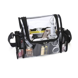 Clear makeup set bag PVC toiletry organizer shoulder bag for artist available for custom 210322