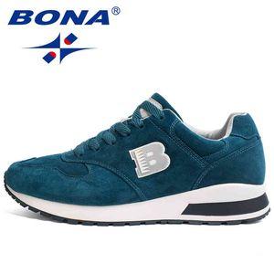 Bona جديد وصول الرجال الاحذية الدانتيل يصل الأحذية الرياضية في الهواء الطلق المشي أنشطة أحذية رياضية مريحة أحذية رياضية للرجال