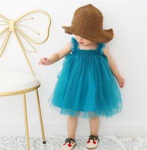 طفل الفتيات حبال الرباط اللباس الأطفال agaric شبكة توتو فساتين الأميرة 2019 الصيف بوتيك الاطفال ملابس 6 ألوان 238 J2