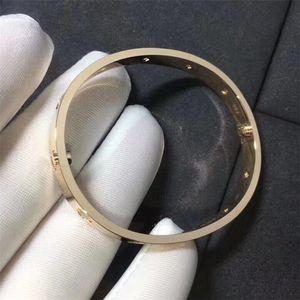 Fashion Titanium Steel Diamond Bangle for Men and Women Suitable Couple Wristband Wedding Rose Gold Bracelet Jewelry lover Gift