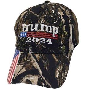 Presidente Donald Trump 2024 Cappello Camouflage Baseball Ball Caps Donna Mens Designer Snapback US Flag Maga Anti Biden Summer Sun Visor G33JaQG