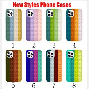 Push Bubble Fidget Toy Case Decompression Silicone Phone Cases For iPhone 12 11 Pro Xs Max Xr 7 8 Plus Reliver Stress
