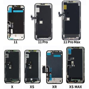 لوحات اللمس لجهاز iPhone X XS / MAX XR 11 شاشة LCD OLED TFT شاشة استبدال محول الأرقام