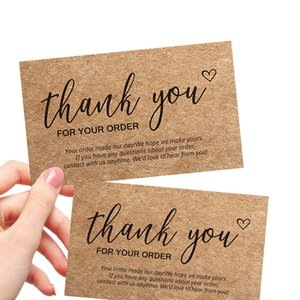 Greeting Cards 30Pcs bag Kraft Paper Card Thank You For Your Order Store Business Tags Small Shop Gift DIY Crafts Decoration w-00940