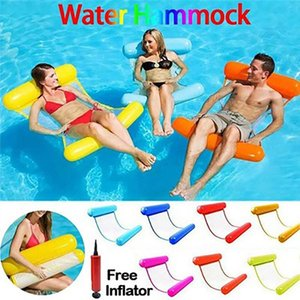 Life Vest & Buoy Water Hammock Recliner Inflatable Floating Swimming Mattress Sea Ring Pool Party Toy Lounge Bed For
