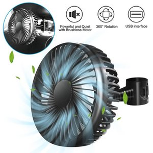 USB Fan Cooler Portable Suction Cup Single Head 12V 24V Universal Car Backseat Headrest Large Wind Three Speed Control Air Cooling For Truck SUV Boat