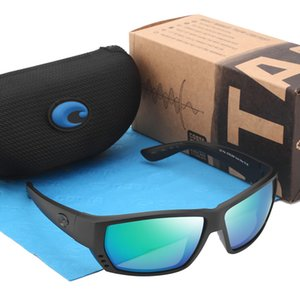 580P Tuna Alley Brand Polarized Sunglasses Men Driving Eyewear Coating Sport Sunglasses Male Costa Sun Glasses Square Frame UV400