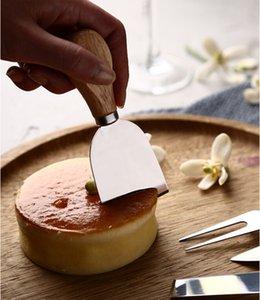 4 unids / sets Cuchillos de queso conjunto conjunto de tablero de roble mango mantequilla horquilla esparcidor cuchillo kit cocina herramientas de cocina accesorios útiles 254 v2