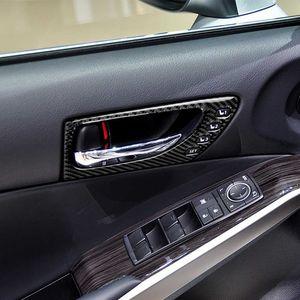 Carbon fiber inner front door handle sticker Car accessories Styling Interior for Lexus IS250 2013-2020