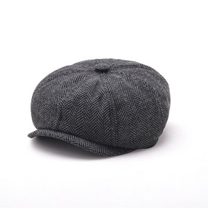 Brand Design Casual Octagonal Cap Mens Beret Hats Fashion Jason Gorras Planas Solid Beret Film Cap168 Q2