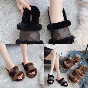 IFWEL Womens Pantofole Pantofole di alta qualità Primavera e autunno lana New Designer Style Style Solid Color Dener Slipper Slipper Colore alla moda