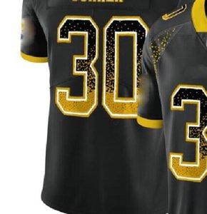Professional Custom Jerseys NY 8 13 26 NYJ 14 OAK 4 28 34 84 PHI 9 10 11 PIT 19 30 84 90 Shirts Men Carbon Black Retro Flag Jersey a8