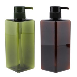 Colors Square 650ml Empty Plastic Bottle With Pump Large Capacity Container For Shampoo Lotions Liquid Body Soap Creams Storage Bottles & Ja