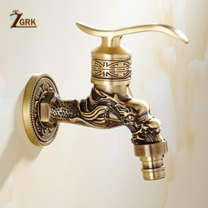 Bathroom Sink Faucets ZGRK Faucet Brass Tap Kitchen Outdoor Garden Taps High Quality Washing Machine Mop Luxury Antique Decorative Bibcock