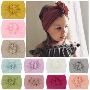 Enfants Baby Girl Girl Turban Soft Nylon Soft Bandeaux Bandeau Bandeau Bandes Bandes De Cheveux Étendus Enfants Petites filles Mode Accessoires de cheveux 748 V2